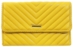 Koko Yellow Panel Stud Clutch Bag