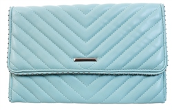 Koko Mint Panel Stud Clutch Bag
