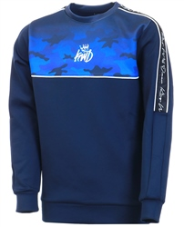 Kings Will Dream Navy Junior Mector Fade Sweatshirt
