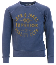 Navy Boys Logo Print Sweatshirt by Jack & Jones