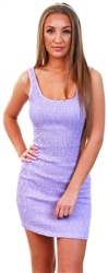 Brave Soul Lilac Ruched Sleeveless Bodycon Dress