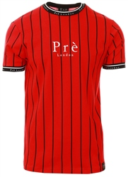 Pre London Red/Black Power Pinstripe Tee