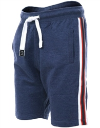 Threadbare Navy Marl Ross Fleece Short