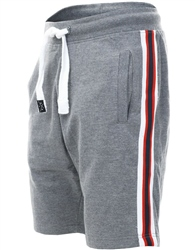 Threadbare Mid Grey Marl Ross Fleece Short