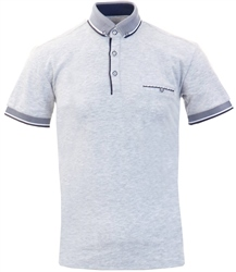 Ottomoda Grey Short Sleeve Polo Shirt
