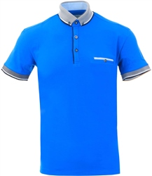 Ottomoda Cobalt Short Sleeve Polo