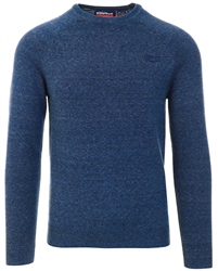 Reefer Blue Grindle Orange Label Cotton Jumper by Superdry