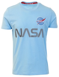 Alpha Industries Light Blue Nasa Reflective Tee