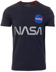 Alpha Industries Rep Blue Nasa Reflective Tee