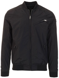 Threadbare Black Vermont Bomber Jacket