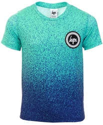 Hype Blue Speckle Fade Kids T-Shirt
