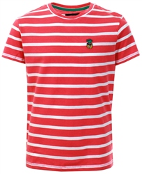Threadbare Red / White Stripe Pattern T-Shirt