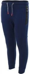 Threadbare Navy Panel Cuffed Joggers