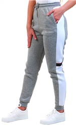 Kings Will Dream Grey / White Panel Cuffed Jogger