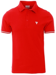 Guess Red Stretch Cotton Polo