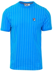 Fila Blue Guilo Striped Crew Neck Top