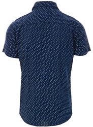 Jack & Jones Blue / Navy Blazer Printed Short Sleeved Shirt