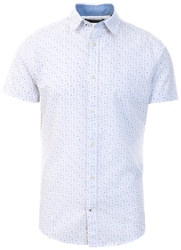 Jack & Jones White / Cloud Dancer Printed Short Sleeved Shirt