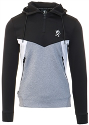 Gym King Black/Charcoal Marl/Grey Marl Climb Poly Half Zip Through Tracksuit Top