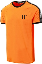 11degrees Blaze Orange Taped Ringer T-Shirt