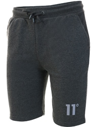11degrees Anthracite Marl Core Sweat Shorts