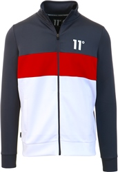 Anthracite / Ski Patrol Red / White Panel Block Poly Track Top by 11degrees
