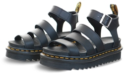 Dr Martens Black Hydro Leather Blaire Strap Sandals
