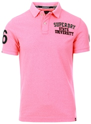 Superdry Bright Blast Pink Classic Superstate Polo Shirt