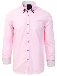Pink Long Sleeve Button Shirt by Silvio Valentin