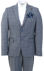 Fratelli Navy Check Pattern 2 Piece Suit