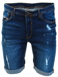 Dv8 Blue Mid Wash Denim Shorts