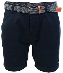 Broken Standard Navy Basic Belted Chino Short