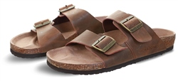 Jack & Jones Brown / Java Debossed Logo Sandals