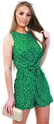 Ax Paris Green Knot Front Playsuit