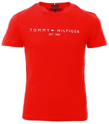 Tommy Jeans Deep Crimson Essentials Organic Cotton T-Shirt