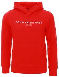 Tommy Jeans Deep Crimson Essential Logo Pure Cotton Hoody