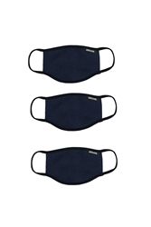 Hype Navy 3x Adult Face Mask Set