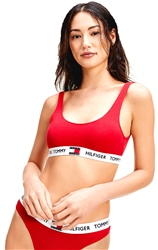 Tommy Jeans Tango Red Logo Underband Organic Cotton Bralette