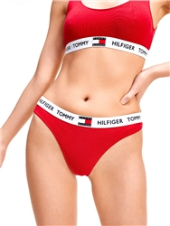 Tango Red Organic Cotton Logo Thong by Tommy Jeans
