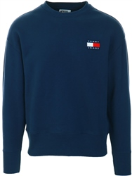 Navy Organic Cotton Badge Logo Sweatshirt by Tommy Jeans