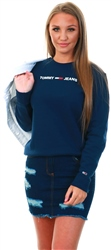 Tommy Jeans Twilight Navy Essential Logo Flag Patch Sweatshirt