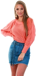 Only Coral Parmaline Knit Top