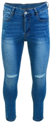 Light Wash Lumor Skinny Distressed Jeans by Kings Will Dream