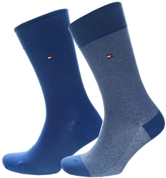 Tommy Jeans Bright Blue 2-Pack Men's Cotton Rich Socks