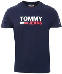 Tommy Jeans Twilight Navy Organic Cotton Logo T-Shirt