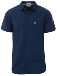 Tommy Jeans Twilight Navy Short Sleeve Flag Patch Pocket Shirt