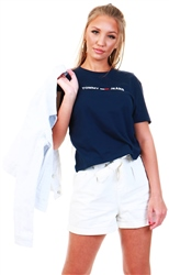 Tommy Jeans Twilight Navy Linear Logo Tee