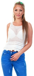 Jdy White Knit Top