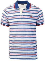 Jack & Jones White / Cloud Dancer Striped Polo Shirt