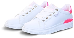 Xti White / Neon Pink Panel Trainer